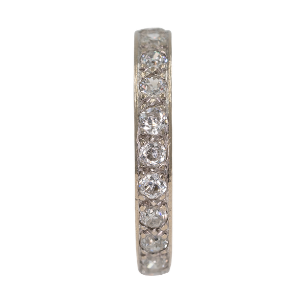 Full eternity diamond ring in 18 ct white gold - image 1