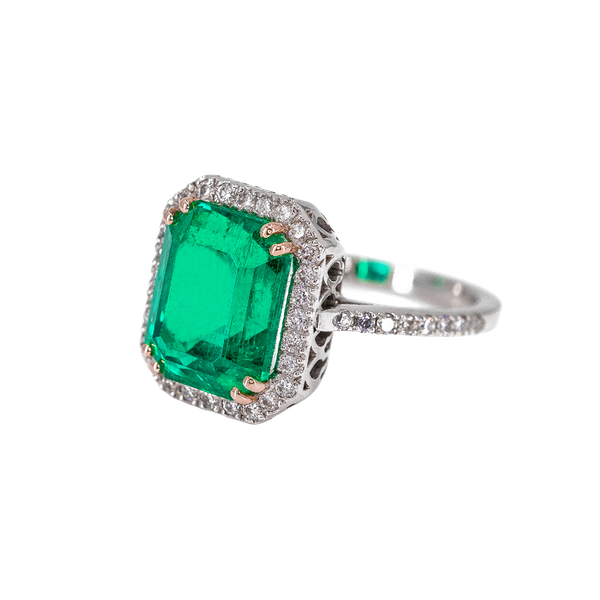 A Magnificent Emerald Dress Ring Offered by The Gilded Lily - image 1