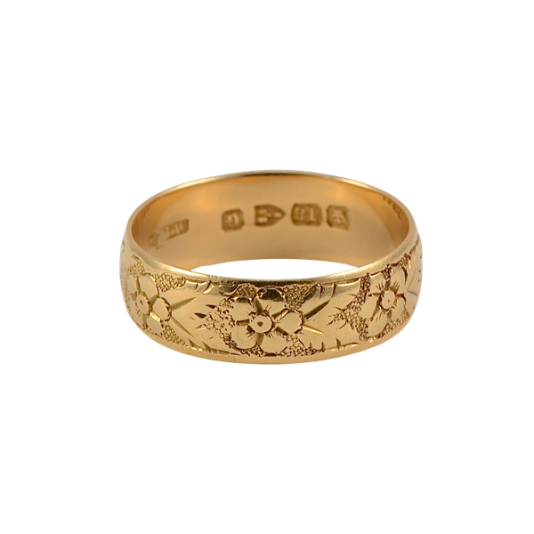 Wedding Ring in 18ct Gold date Chester 1890, SHAPIRO & Co since1979 - image 1