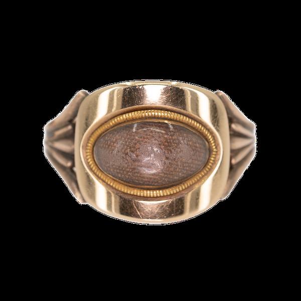 Georgian oval shaped locket ring - image 1