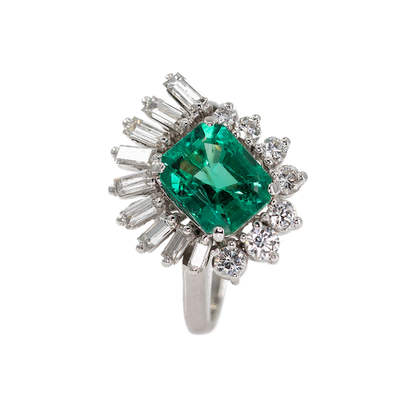 An Emerald Dress Ring Offered by The Gilded Lily - image 1