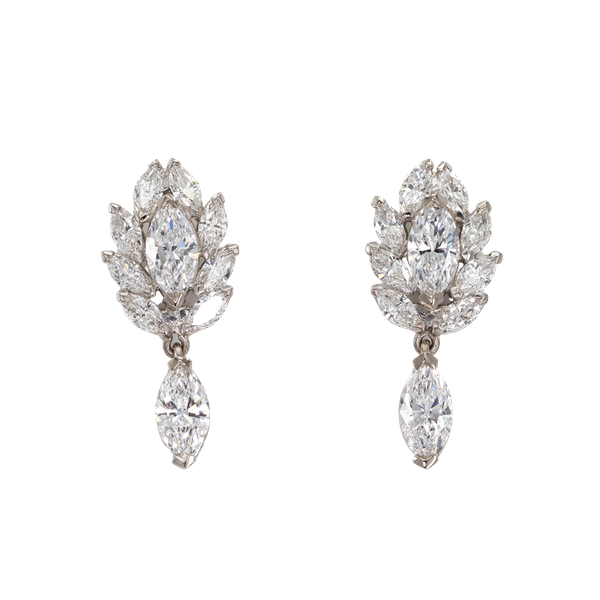A Pair of Fine Diamond Earrings Offered by The Gilded Lily - image 1