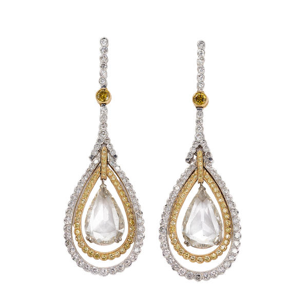 An Important Pair of Evening Wear Dress Earrings Offered by The Gilded Lily - image 1