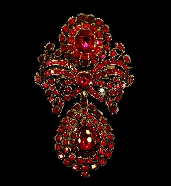 18th Century Garnet Brooch - image 1