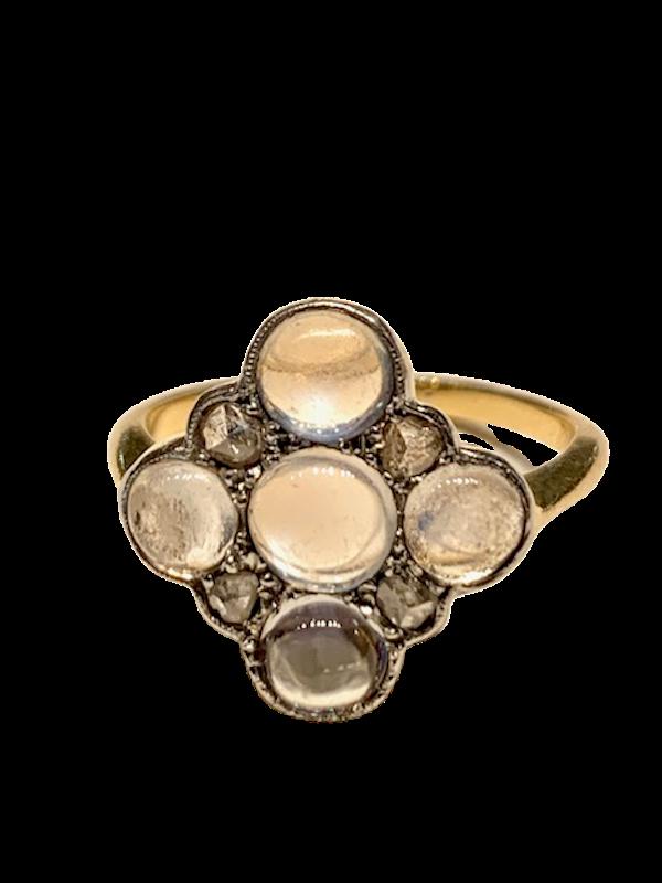 Moonstone and diamond ring. Spectrum - image 1