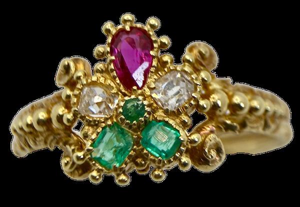 Early 19th Century Gem Set Ring - image 1