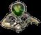'Green Garnet' and Diamond Ring - image 1
