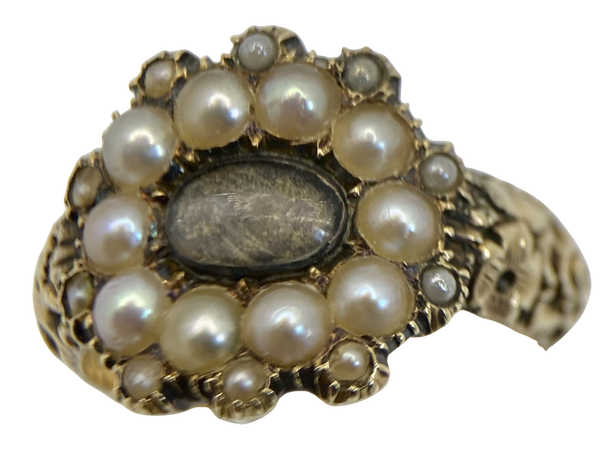 Georgian Gold Ring set with Pearls - image 1