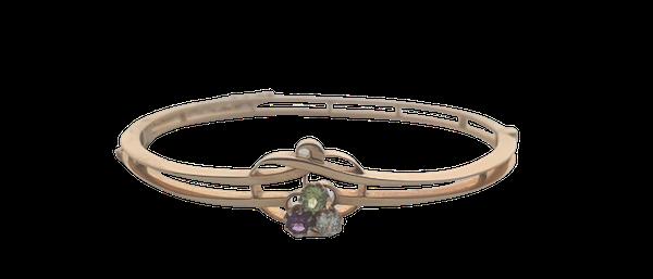 Suffragette diamond, peridot, amethyst bangle. Spectrum - image 1