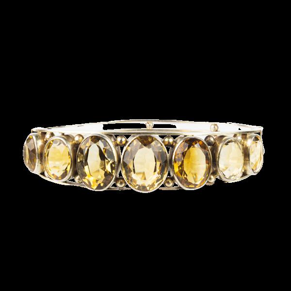 A Citrine Silver bangle - image 1