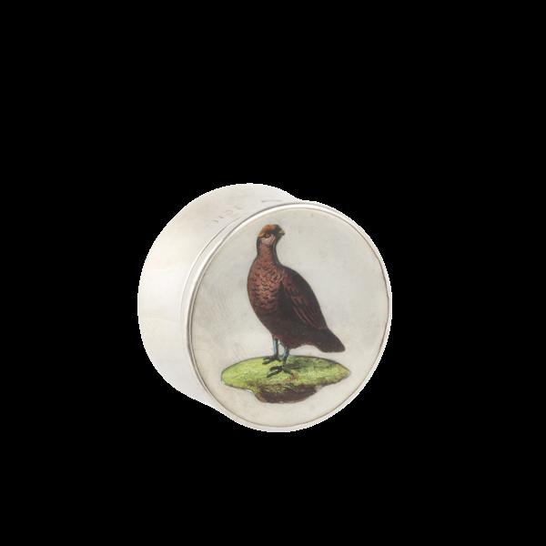 A Silver Grouse Enamel pillbox - image 2