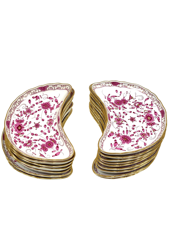 19th century Meissen crescent shaped dish - image 1