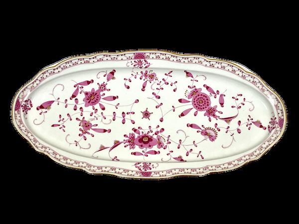 19th century Meissen salmon platter - image 1