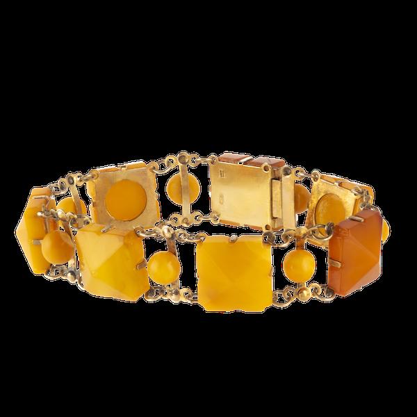 A Baltic Amber Silver bracelet - image 1