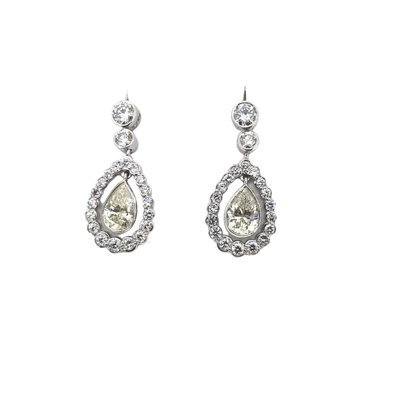 """""""Kate"""" Diamond teardrop earrings, 2.82 cts in total @Finishing Touch Stand 335 - image 1"""