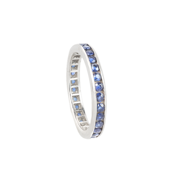 A Gold Sapphire Eternity Ring - image 2