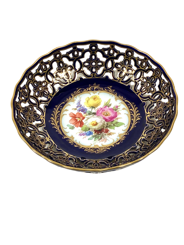 Reticulated Meissen bowl - image 1