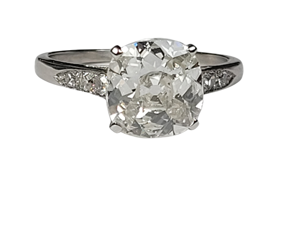 2.40ct Cushion cut diamond engagement ring sku 5006 DBGEMS - image 1