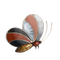 An Agate Silver Butterfly Brooch - image 1