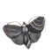 A Grey Agate Silver Butterfly - image 1