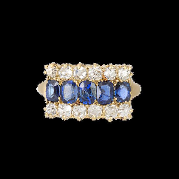 An Burma Sapphire & Diamond Ring - image 4