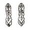 Pair of silver and diamonds earrings - image 1
