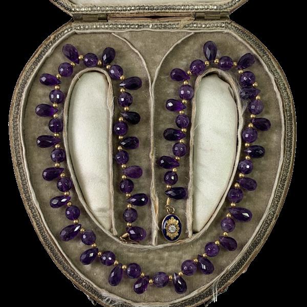 Amethyst necklace in original box 1810 - image 1