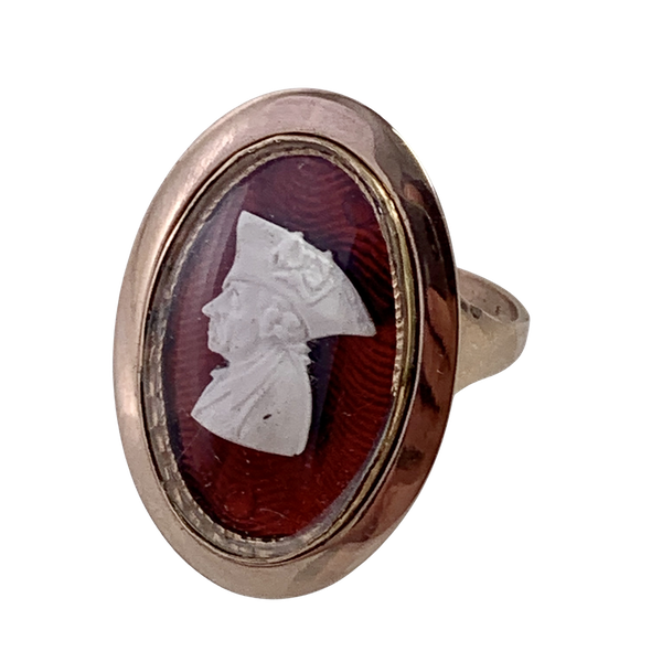Frederick the Great Tassi  cameo 1770 gold ring - image 1