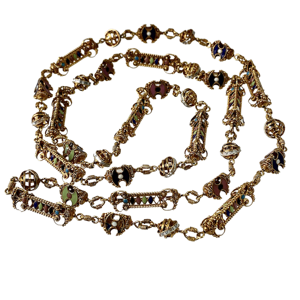 Enamelled gold chain - image 1