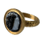 Ancient Roman cameo of Medusa in gold ring - image 1