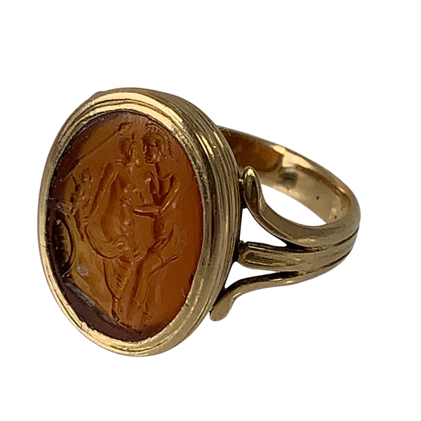 Ancient Roman intaglio in later mount - image 1