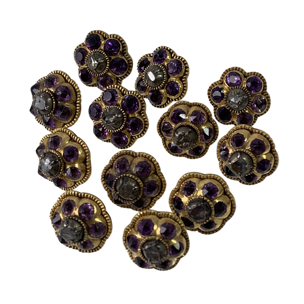 Set of 12 gold buttons ca 1700 - image 1
