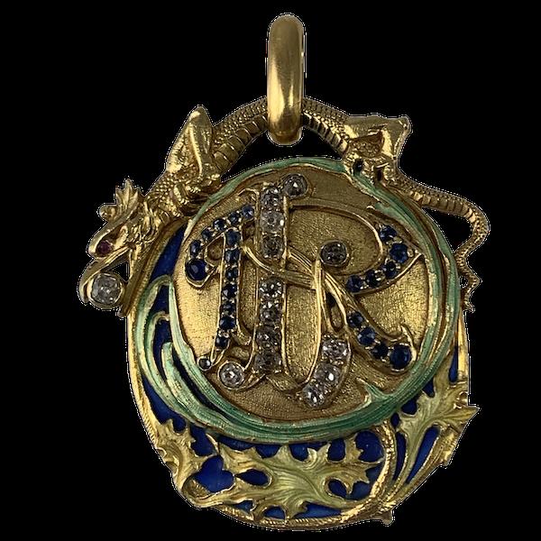 Enamelled pendant by Masriera - image 1