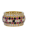French - Ruby - Diamond - Sapphire -  Cocktail Ring - image 1