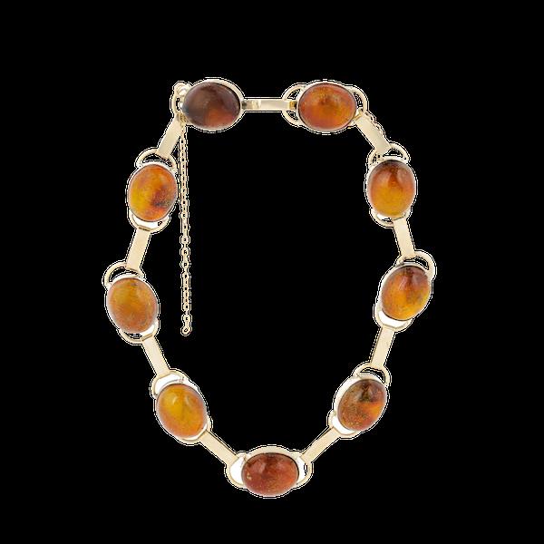 A Gold Amber Bracelet - image 1