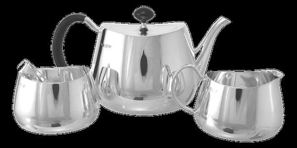 WALKER & HALL Sterling Silver - David Mellor PRIDE - 4 Piece Tea Set - image 1