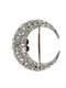Antique crescent diamond with detachable fittings Sku 5079  DBGEMS - image 1