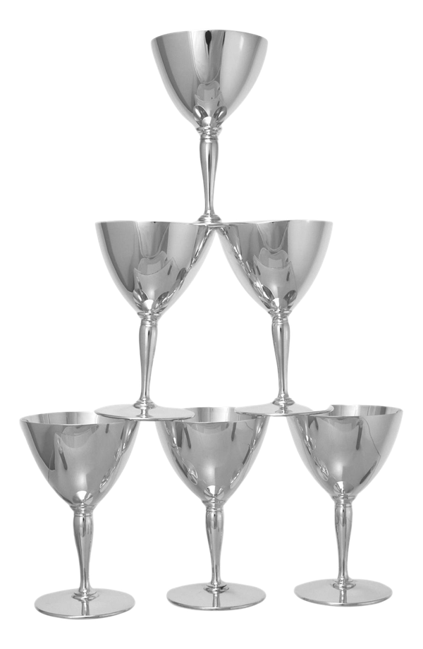 ANTIQUE Sterling SILVER - Tiffany & Co - Set of 6 Martini Goblets - 1922 - image 1