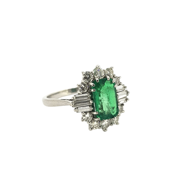 Vintage Columbian Emerald and Diamond Ring with certificate @Finishing Touch - image 1