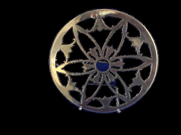 A silver antique trivet - image 1