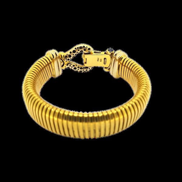"""Vintage Italian """"Turbo Gas Tube"""" bracelet @Finishing Touch - image 1"""