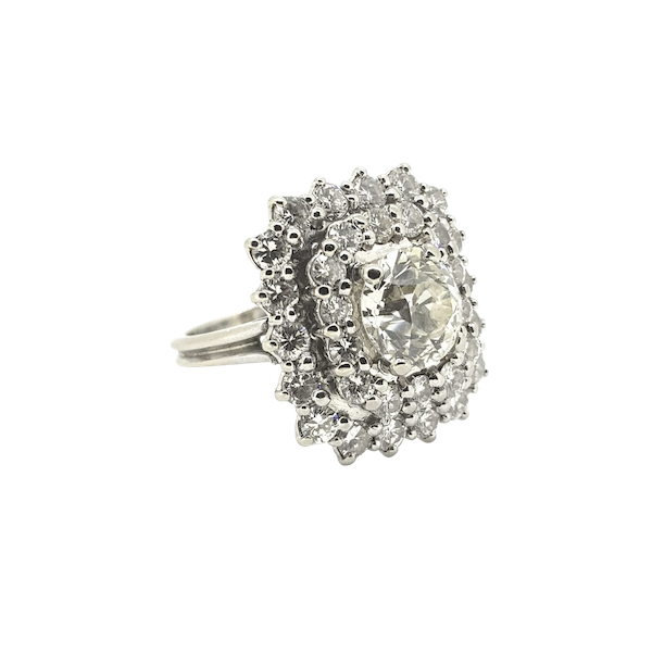 French Old Cut Diamond Dress ring @Finishing Touch - image 1