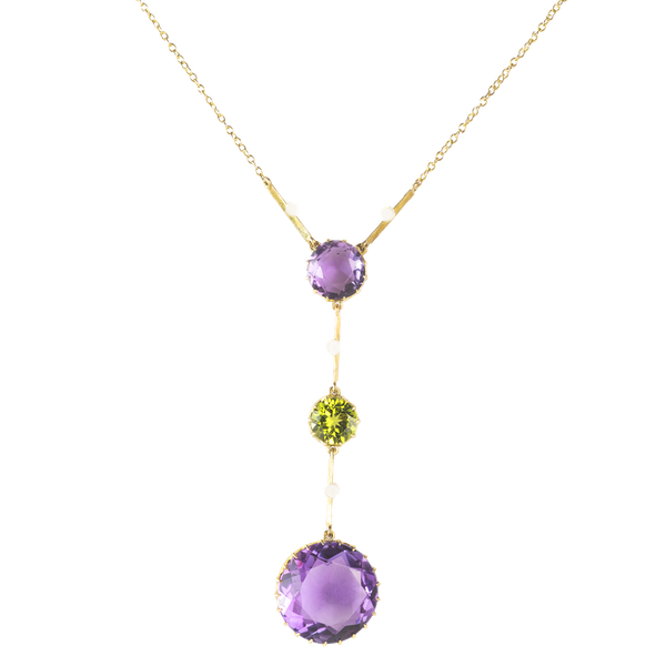 A Suffragette Amethyst Necklace - image 1