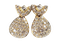 Super French diamond drop earrings sku 5089 DBGEMS - image 1